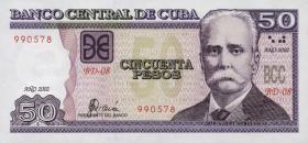 Kuba / Cuba P.123a 50 Pesos 2002 (1)