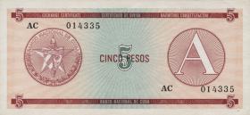 Kuba / Cuba P.FX03 5 Pesos (1985) Exchange Certificate Serie A (1)