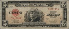Kuba / Cuba P.070 5 Pesos 1938 (3)