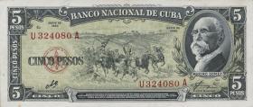 Kuba / Cuba P.091c 5 Pesos 1960 (1)