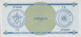 Kuba / Cuba P.FX13 5 Pesos (1985) Exchange Certificate Serie C (1)