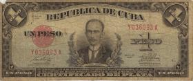 Kuba / Cuba P.069h 1 Pesos 1949 (5)