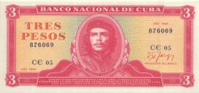 Kuba / Cuba P.107b 3 Pesos 1989 (1)