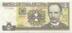 Kuba / Cuba P.128e 1 Peso 2010 (1)
