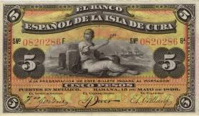 Kuba / Cuba P.048b 5 Pesos 1896 (1)