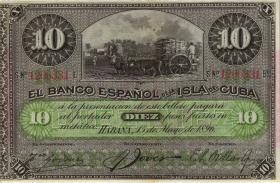 Kuba / Cuba P.049d 10 Pesos 1896 (1)