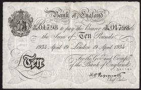 KZ Oranienburg 10 Pfund Fälschung 1934 (3+)