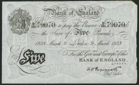KZ Oranienburg 5 Pfund Fälschung 1938 (1/1-)