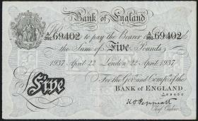 KZ Oranienburg 5 Pfund Fälschung 1937 (2+)