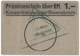 KZ Ravensbrück 1.- RM (1939) Kantinen-Verwaltung