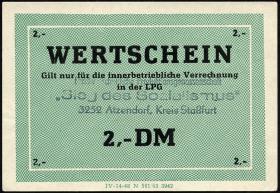 """L.003a.13 LPG Atzendorf """"Sieg des Sozialismus"""" 2 DM (1)"""