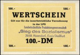 """L.003a.18 LPG Atzendorf """"Sieg des Sozialismus"""" 100 DM (1)"""