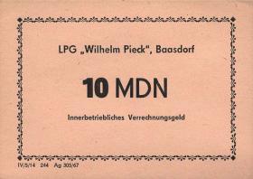 """L.006.2 LPG Baasdorf """"Wilhelm Pieck"""" 10 MDN (1)"""