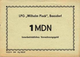 """L.006.3 LPG Baasdorf """"Wilhelm Pieck"""" 1 MDN (1)"""