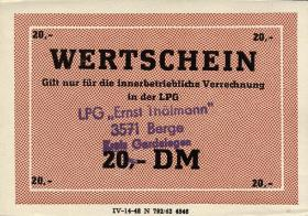 "L.011.7 LPG Berge ""Ernst Thälmann"" 20 DM (1)"