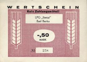 """L.012.1 LPG Bad Berka """"Ilmtal"""" 0,50 Mark (1)"""