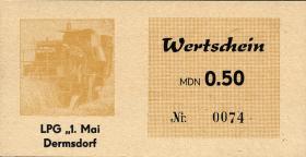 """L.021.2 LPG Dermsdorf """"1.Mai"""" 0,50 MDN (1)"""