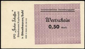 "L.027.2 LPG Ettenhausen/Kupfersuhl ""Frohes Schaffen"" 0,50 Mark (1)"