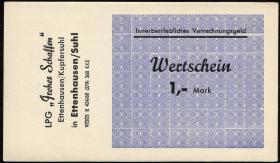 "L.027.3 LPG Ettenhausen/Kupfersuhl ""Frohes Schaffen"" 1 Mark (1)"