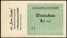 "L.027.4 LPG Ettenhausen/Kupfersuhl ""Frohes Schaffen"" 5 Mark (1)"