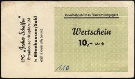 "L.027.5 LPG Ettenhausen/Kupfersuhl ""Frohes Schaffen"" 10 Mark (1)"