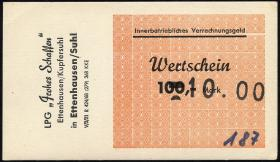 "L.027.8 LPG Ettenhausen/Kupfersuhl ""Frohes Schaffen"" 100 Mark (1)"