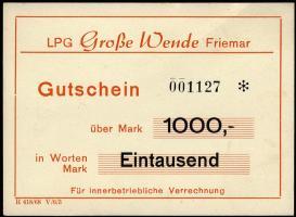"""L.030.6 LPG Friemar """"Große Wende"""" 1000 Mark (1)"""