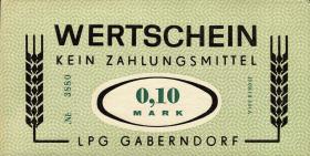 """L.032.1 LPG Gaberndorf """"Zur Warte"""" 0,10 Mark (1)"""