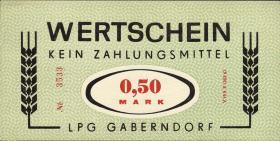 """L.032.2 LPG Gaberndorf """"Zur Warte"""" 0,50 Mark (1)"""