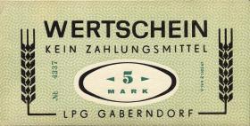 """L.032.4 LPG Gaberndorf """"Zur Warte"""" 5 Mark (1)"""