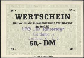 """L.033.17 LPG Gardelegen """"10. Jahrestag"""" 50 DM (1)"""