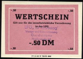 """L.033.47 LPG Gardelegen """"10. Jahrestag"""" 0,50 DM (1)"""