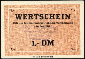 """L.033.48 LPG Gardelegen """"10. Jahrestag"""" 1 DM (1)"""
