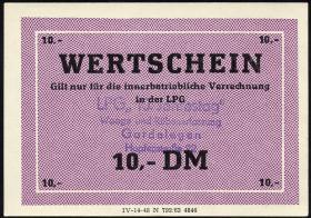 """L.033.51 LPG Gardelegen """"10. Jahrestag"""" 10 DM (1)"""