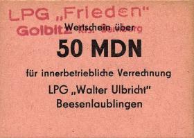 """L.038.15 LPG Golbitz """"Frieden"""" 50 MDN (1)"""