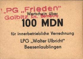 """L.038.8 LPG Golbitz """"Frieden"""" 100 MDN (1)"""