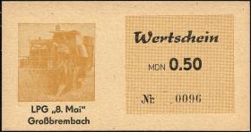 "L.045.2 LPG Großbrembach ""8.Mai"" 0,50 MDN (1)"
