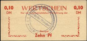 """L.051a.1 LPG Halenbeck """"Walter Ulbricht"""" 0,10 DM (1)"""