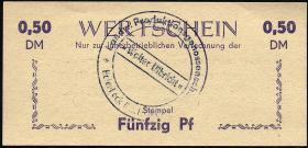 """L.051a.4 LPG Halenbeck """"Walter Ulbricht"""" 0,50 DM (1)"""