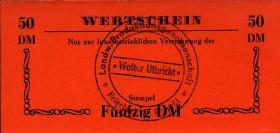 """L.051b.3 LPG Halenbeck """"Walter Ulbricht"""" 50 DM (1)"""