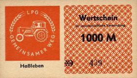 "L.053.10 LPG Haßleben ""Gemeinsamer Weg"" 1000 Mark (1)"