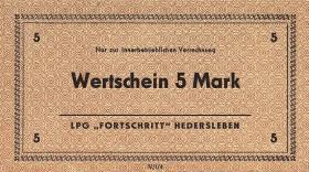 "L.054 LPG Hedersleben ""Fortschritt"" 5 Mark (1)"