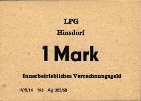 "L.057a.2 LPG Hinsdorf ""August Bebel"" 1 Mark (1)"