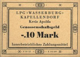 "L.063.1/3 LPG Kapellendorf ""Wasserburg"" 0,10 -100 Mark (1)"