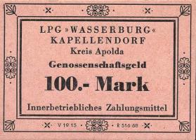"L.063.3 LPG Kapellendorf ""Wasserburg"" 100 Mark (1)"