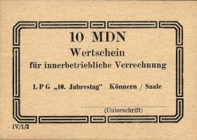 "L.069c.5 LPG Könnern ""10.Jahrestag"" 10 MDN (1)"