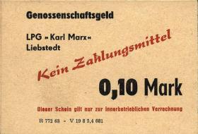 "L.077.5 LPG Liebstedt ""Karl Marx"" 0,10 Mark (1)"
