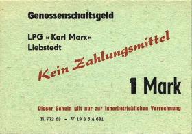 "L.077.11 LPG Liebstedt ""Karl Marx"" 1 Mark (1)"