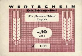 "L.082.1 LPG Magdala ""Hermann Matern"" 0,10 Mark (1)"