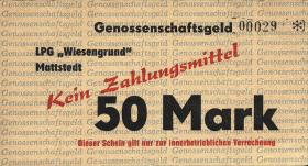 """L.084a.13 LPG Mattstedt """"Wiesengrund"""" 50 Mark (2)"""